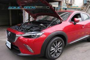 Black Strut Lift Gas Hood Shock Stainless Damper Set for 2015-2019 Mazda CX-3 DK