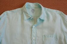 J.Crew Men's Slim Fit Ludlow Shirt in Baird McNutt délavé Irish Linen Blue L
