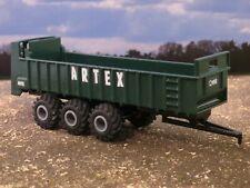 1/64 Custom Artex CB1200 Manure Spreader Vertical Beater Green