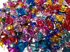 100 pc lot Aluminum Flower Beads Mixed Size Color 6mm - 15mm