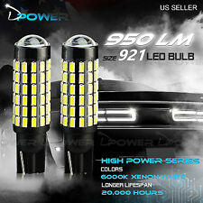 2x 6000K White 921 T10 T15 78-SMD LED Backup Reverse Lights Bulbs Projector Lens