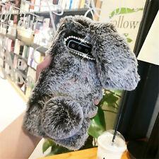 Plush Bunny Bling Glitter Diamond Fluffy Rabbit Fur Case Cover For Cell Phone U