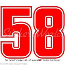 "MARCO SIMONCELLI 58 Moto GP Racing Vinyl, Decal Sticker 3"" ( 75mm) ANY COLOUR"