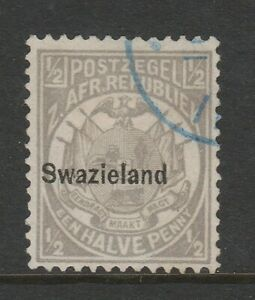 Swaziland 1889-90 ½d Grey Perf 12½ SG 4 Fine used.