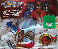 Power Rangers Mega Force Boys Size 6 Briefs 3 Pack Underwear New Factory Sealed