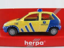 "Herpa 044233 Opel Corsa B (1993-1997) ""AMBULANCE (NL)"" 1:87/H0 NEU/OVP"