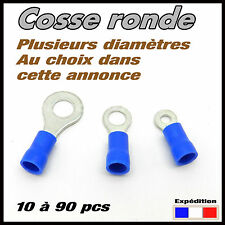 Cosse ronde bleu auto disponible de 10 à 90 pcs