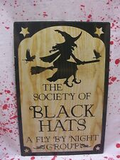 Metal Witch Black Hat Sign Medical Halloween Prop Decoration Haunted House NEW