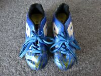 Lotto Campione Soccer Cleats Shoes Electric Blue/Neon Green Sz 1 Futbol foot