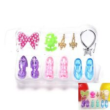 Blister toy for Barbie Doll Accessories Ring Earrings Shoes Necklace ToysLAG