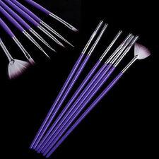 7 PCS Nail Art Design Pen Painting Dottings Brush Set Purples Make Up Tools to