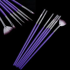 7 X Penna Nail Art Design Pittura Strumento Pennello Set Purple Make Up Strumenti uksk