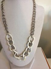 Guess White & Silver Chain Necklace $30  MH24