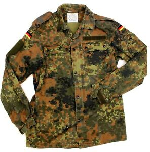 GENUINE BUNDESWEHR GERMAN ARMY COMBAT SHIRT / JACKET in FLECKTARN CAMO
