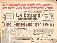 CANARD ENCHAINÉ Birthday Newspaper JOURNAL NAISSANCE 4 janvier january 1984