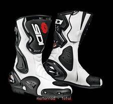 NEU SIDI Motorradstiefel Cobra schwarz weiss Gr. 46 NEU Racing Stiefel NEW