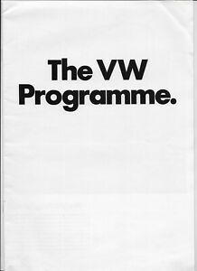 1973 VW brochure: VW Beetle, Karmann-Ghia, 1600, 412, K70 & Microbus/Commercial