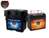 VMAX V35-857 + U1 Battery Box AGM Deep Cycle 12V 35AH Battery for PV SOLAR PANEL