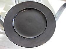 """Tapio Wirkkala for Rosenthal 12"""" Black Dinner Plate"""