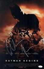 Christian Bale Signed 11X17 Photo BATMAN BEGINS In Person Autograph JSA COA
