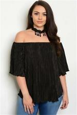NEW..Stylish Plus Size Black  Off the Shoulder Top with Choker Necklace.SZ20/2XL