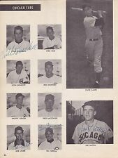 Chicago Cubs 1952 BB Magazine page signed by 6 with Willie Ramsdell - rare!