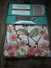 Waverly Shower Curtain IN THE AIR BIRD FLORAL Red Pink Yellow NEW w/12 Hooks