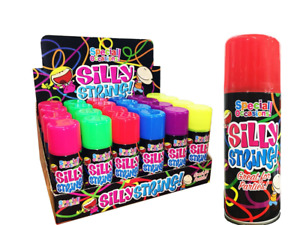 Silly Strings Can Mixed Colors Party Crazy Colorful Spray Streamers String