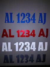 """Light Reflective Set of 2 Custom Boat Registration Number Vinyl Decal 3""""x 20"""""""