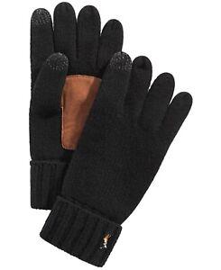 Polo Ralph Lauren Men's Black Merino Wool Tech Touch Gloves One Size