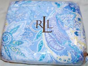Ralph Lauren Jamaica Blue Paisley Cal King Bedskirt New 1st Quality ~ Rare
