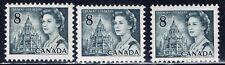 Canada #544ii(5) 1971 8 cent slate Elizabeth II LOW FLUORESCENCE 3 MNH