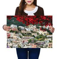 A2 | Positano Amalfi Italy Landscape Size A2 Poster Print Photo Art Gift #13011