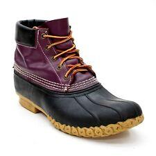 Vintage LL Bean Ladies 11 M Plum/Purple Leather Rain Booties Ankle Duck Boot USA