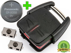 KEY FOR OPEL VECTRA C SIGNUM ZAFIRA A OMEGA B CR2032 BATTERY + 2 x BUTTONS