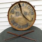 RARE ORIGINAL WWI U.S. ARMY BAND DRUM 77TH INFANTRY DIVISION UNIT MARKED