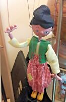"Vintage Pelham Puppets ""Dutch Boy"" and ""Skeleton"" With Original Boxes"