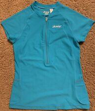 Zoot Cycle Top Short Sleeve Half Zipper Womens S Blue