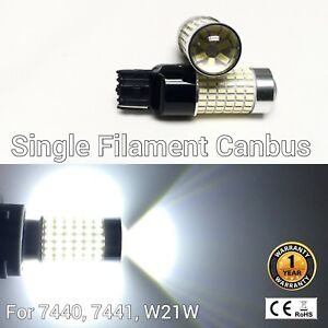 Rear Signal Lights T20 7440 7441 144 SMD 6K White LED Bulb M1 For Buick GM MA