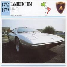 1972-1979 LAMBORGHINI URRACO Classic Car Photo/Info Maxi Card