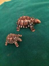 2 Wade Porcelain Turtle Figurines