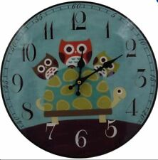 Decorative Fine Glass Wall Clock_Owls