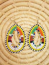New African Maasai Earrings Masai Massai Africa S/M jemo457