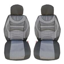 PREMIUM GREY FRONT SEAT COVERS CUSHION UNIVERSAL CAR VAN TRUCK MOTORHOME LORRY