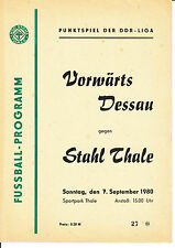 DDR-Liga 80/81 ZEPA acero Thale-ASG hacia adelante Dessau