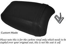 CARBON FIBRE VINYL CUSTOM FITS TRIUMPH THUNDERBIRD 1700 1600 REAR SEAT COVER