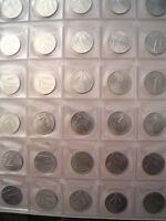 Serie completa di monete 10 lire 1966-1998 tipo spiga