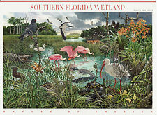 SOUTHERN FLORIDA WETLANDS STAMP SHEET -- USA #4099 39 CENT  NATURE OF AMERICA