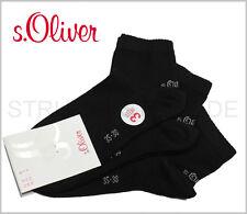 6 Paar s.Oliver Sneaker Quarter Socken UNISEX, schwarz, alle Größen, Art. S21001