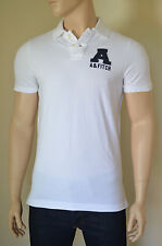 NEW Abercrombie & Fitch Mount Colvin Polo Shirt White Cotton Pique S RRP £72